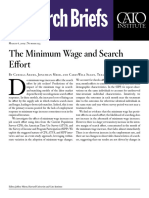 The Minimum Wage and Search Effort