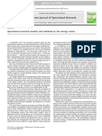 Operational Research Models and Methods in the Energy Sector
