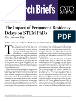 The Impact of Permanent Residency Delays on STEM PhDs