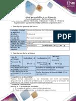 Guía de Actividades y Rúbrica de Evaluación - Tarea 3 - Realizar La Planeación y Primer Borrador Del Texto Argumentativo