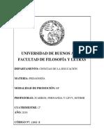 Pedagogía- Levy y Juarros 2018-1