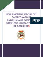 Rgto Especial Cto Andalucia Cce Doma y Saltos de Ponis 2019