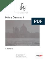 Hilary Dymond - Peintures - Série Venise 2012