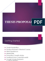 Thesis Proposal - Summer