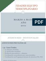 Actividades Equipo Multidisciplinario