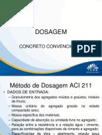 MATERIAIS I - Concretos Convencionais - Dosagem