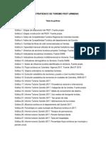 Plan Sectorial de Turismo 2014 - 2018