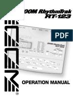 Zoom - RT-123 RhythmTrak Operation Manual