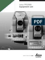 Accessori TPS2000 Equipmentlist En