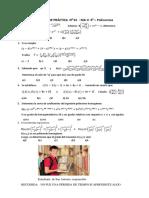 Hoja de Práctica Nº 01 - MA-II - 5º Sec.- Polinomios-2019