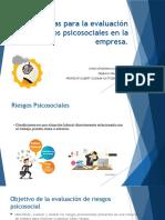 Metodologia de Evaluación Factores Psicosociales en Una Empresa