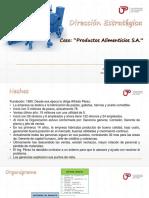 DIRECCION ESTRATEGICA - Caso Productos Alimenticios