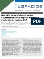 ARTICULO 2019 Medición de La Eficiencia
