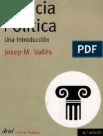 Josep Valles Introduccion a la Ciencia Politica