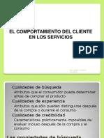 Comportamiento Del Cliente en Los Servicios