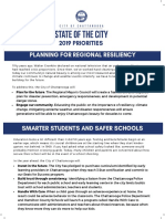 2019 State of the City Priorities One Pager