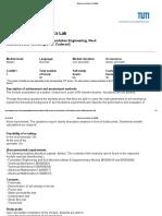 Bodenmechanisches Laborübung - Module Description BV120008