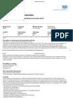 Holz Im Bauwesen - Module Description BGU51024