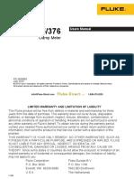 Fluke 375 Clamp Meter Manual