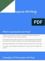 Persuasive Writing - Hickle