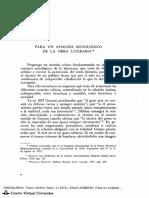 ART. - E. Zubero (1974) Para Una Sociología de La Literatura (Art.)