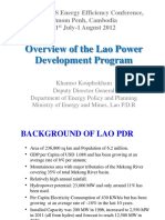 2. Mr.khamso Kouphokham - Overview of the Lao Power Development Program
