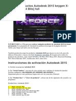 Activar Productos Autodesk 2015 keygen XForce.docx