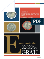 Medallas conmemoran gesta heroíca del Caballero de los Mares en combates navales