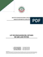 ley educacion del estado slp