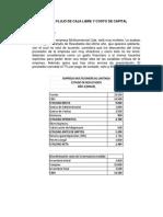 Ejercicios 3 Flujo de Caja Libre y Costo de Capital