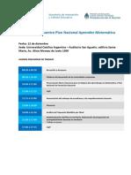 Agenda Encuentro Nacional 12.12.2018