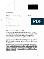Letter to Mr Watkins dated 30 December 2002 after receiving docs under FOI
