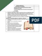 Proceso Didactico Descripcion