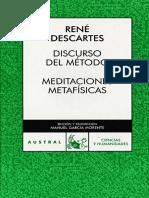Descartes_Discurso del metodo, meditaciones metafisicas