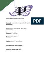 Informe Psicologico de Gloria - Copia