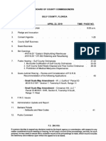 agenda for April 23rd Gulf County Commission meeting
