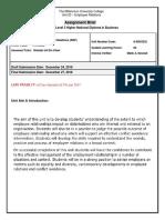 Assignment Brief - U20 ER (RQF)