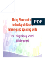 Using Show-And-tell to Develop Children s Listening and Speaking Skills