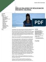 Episódios do Sul_ QUANDO AS PALAVRAS SE DESLOCAM DO INCONSCIENTE COLONIAL