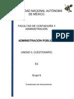 Administracion Publica Cuestionario Unidad 5