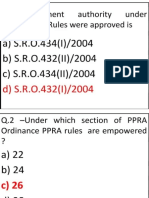 PPRA Mcq
