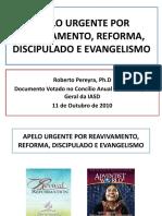 Apelo Urgente Por Reavivamento, Reforma, Discipulado e Evangelismo - Capela FAT