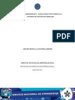 Actividad de Aprendizaje 3 Fase Planeación Evidencia 4 Control de Gestion de Mercados