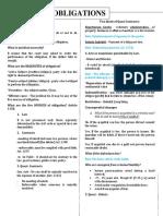 Obligations notes