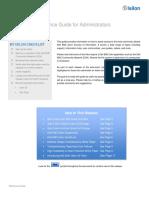 Isilon Quick Ref Guide for Administrators