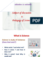 Pedagogy of Science