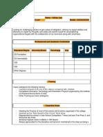 Resume for Articleship Training