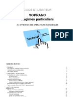 Guide Utilisateur Soprano Regimes Particuliers