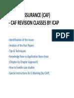 Revision Audit & Assurance CA