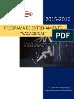 Programa de Entrenamiento Vacacional